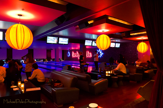 Lucky Strike Lanes & L A  Live at Night